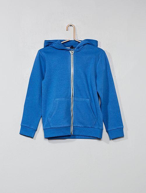 Sweat uni zippé                                                                                         bleu clair Garçon