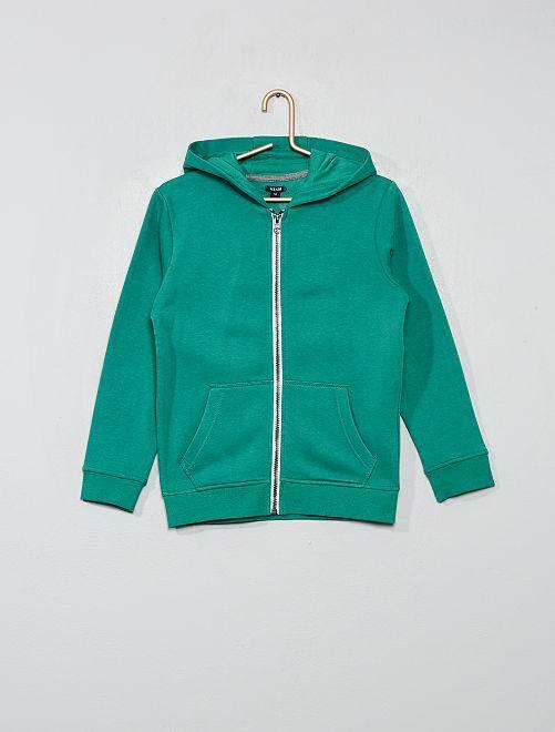 Sweat uni zippé                                                                                                     vert