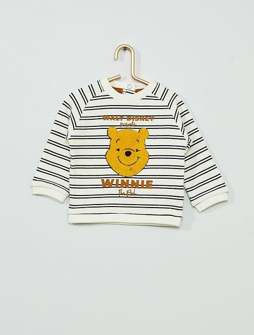 Sweat 'Winnie l'ourson' éco-conçu                             blanc rayé