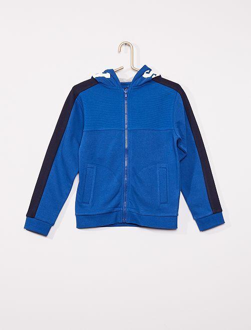 Sweat zippé à capuche                                                     bleu/marine