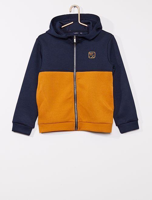 Sweat zippé à capuche                                                                 bleu/orange