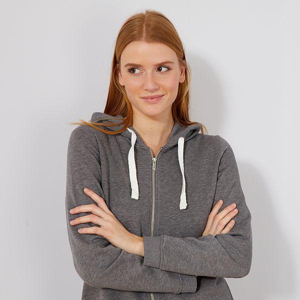 shop new products super popular Sweat zippé à capuche en molleton léger