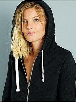 Femme du 34 au 48 Sweat zippé à capuche en molleton léger