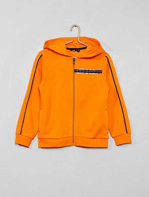 Sweat zippé à capuche                                                     orange