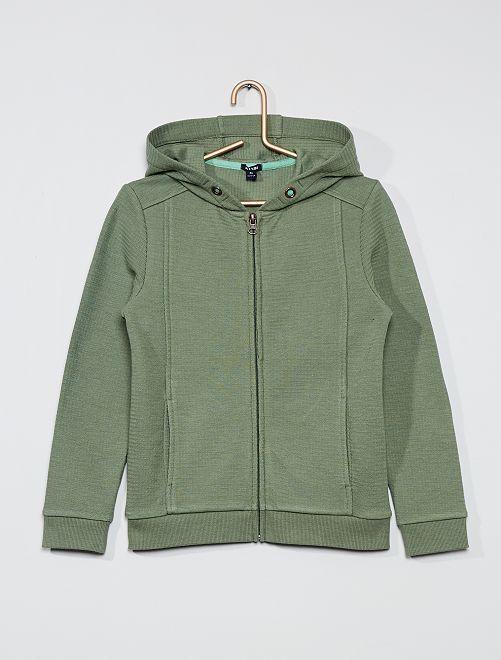 Sweat zippé à capuche                                                     vert
