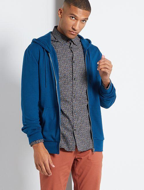 Sweat zippé éco-conçu                                                                                                     bleu