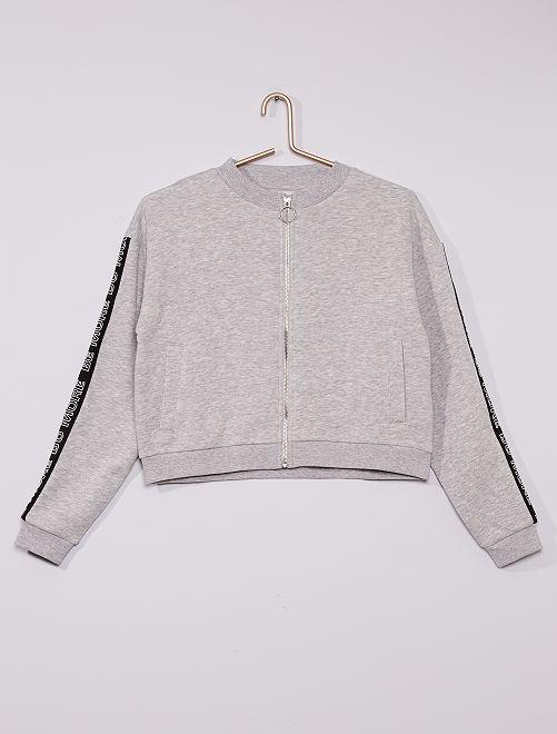 Sweat zippé éco-conçu                             gris