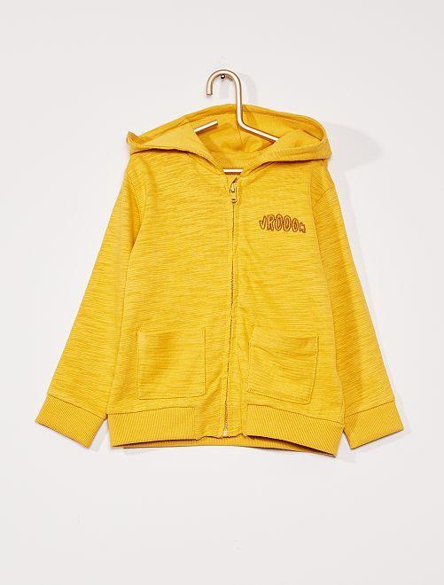Sweat zippé éco-conçu                                                     jaune