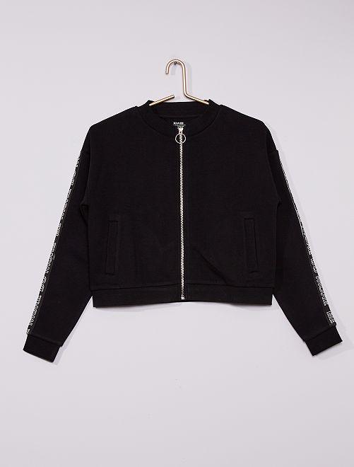 Sweat zippé éco-conçu                     noir