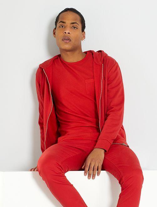 Sweat zippé éco-conçu                                                                             rouge
