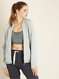 Sweat - Sweat zippé en maille texturée - Kiabi