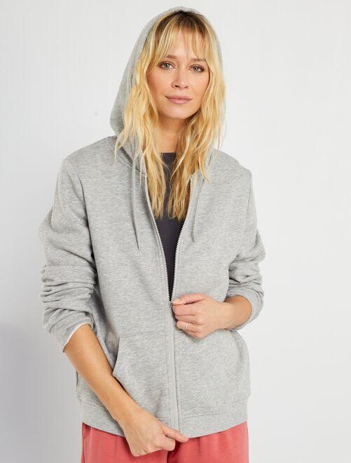 Sweat zippé                                                                                             gris clair