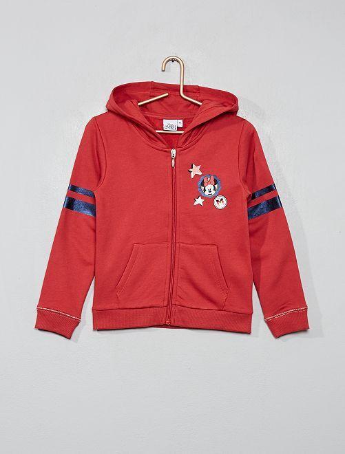 Sweat zippé 'Minnie'                                         rouge