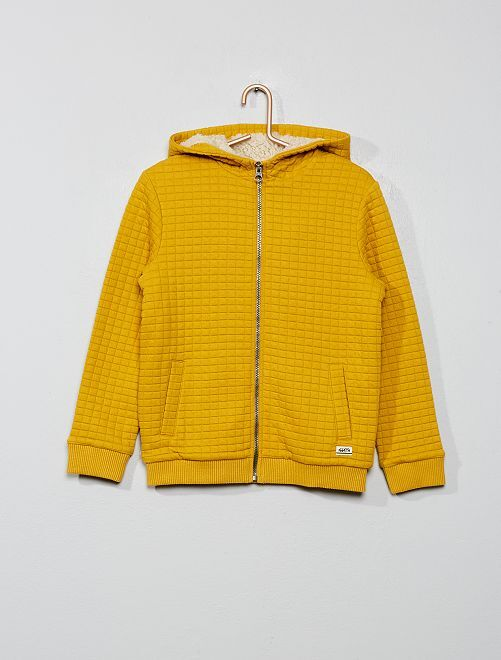 Sweat zippé texturé                                                     jaune