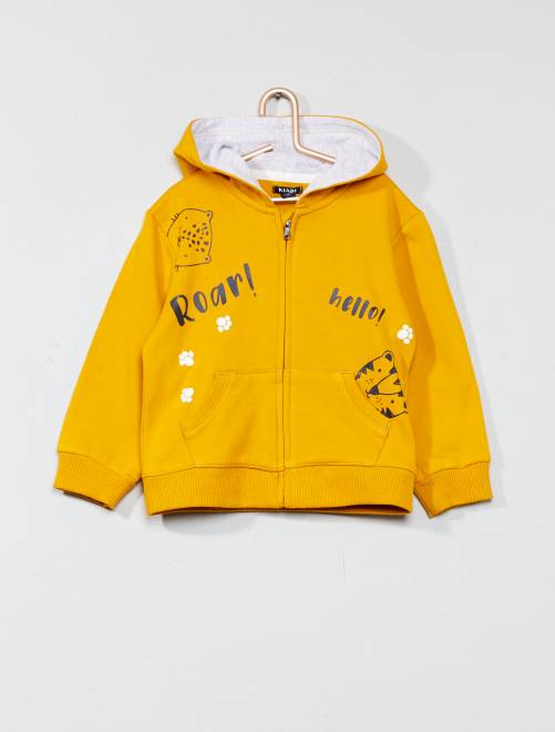 Sweat zippée molletonné                                                     jaune Bébé garçon