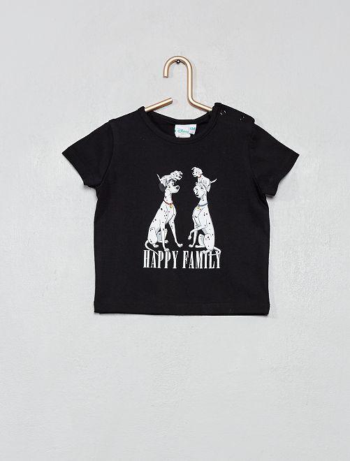 T-shirt '101 dalmatiens' _ Mini me                             noir