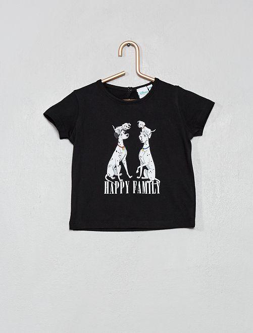 T-shirt '101 dalmatiens'                             noir