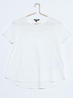 Fille 10-18 ans T-shirt à bascule bi-matière