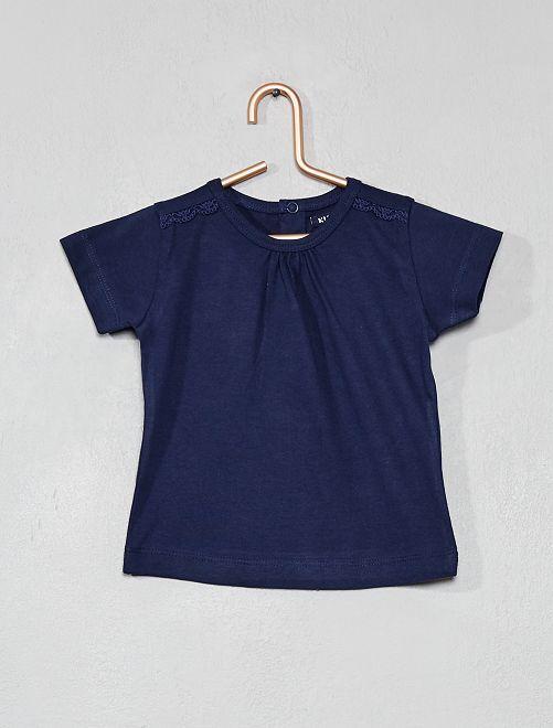 T-shirt à broderie                     bleu marine Bébé fille