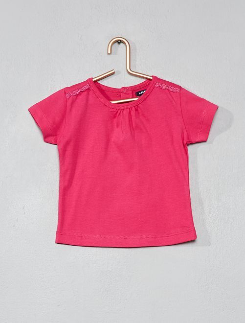 T-shirt à broderie                                                                             rose Bébé fille