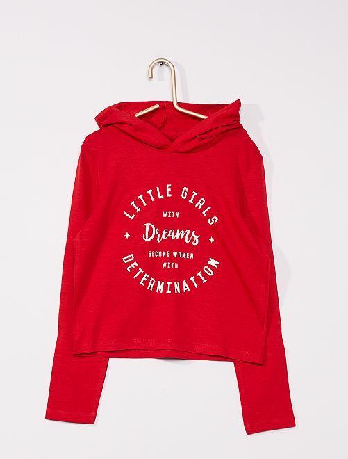 T-shirt à capuche                                                     rouge