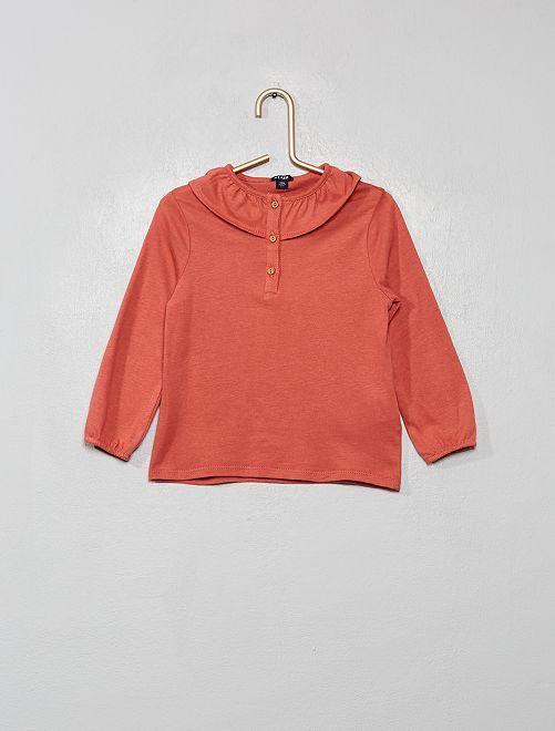 T-shirt à collerette                                         rose