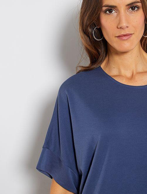 T-shirt à emmanchures descendues                                                                                                     bleu indigo