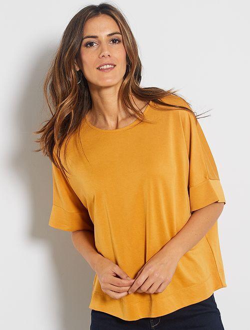 T-shirt à emmanchures descendues                                                                                                     jaune