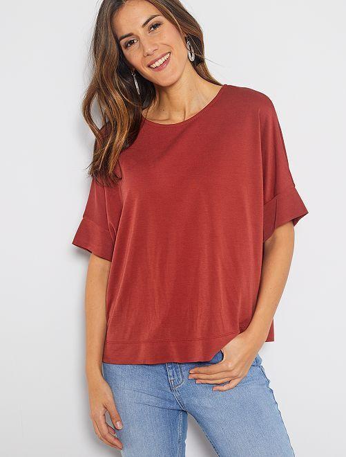 T-shirt à emmanchures descendues                                                                                                     rouge brique