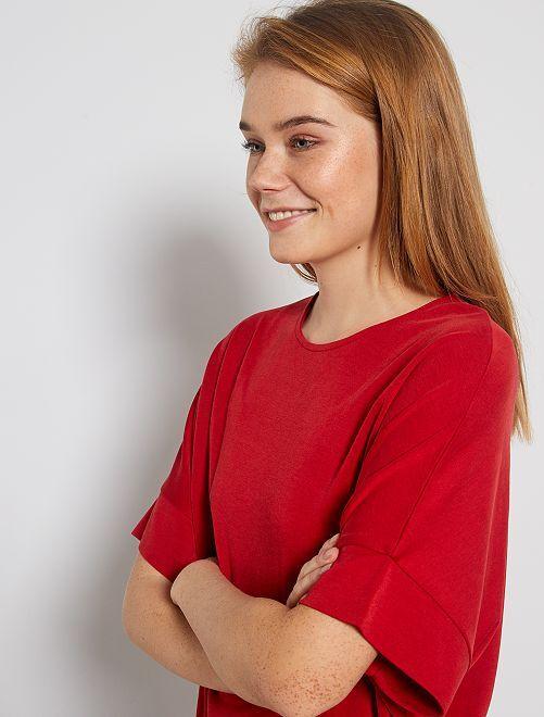 T-shirt à emmanchures descendues                                                                                                     rouge