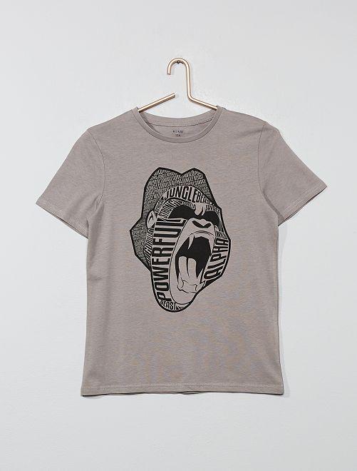T-shirt à imprimé                                                                                                                 gris