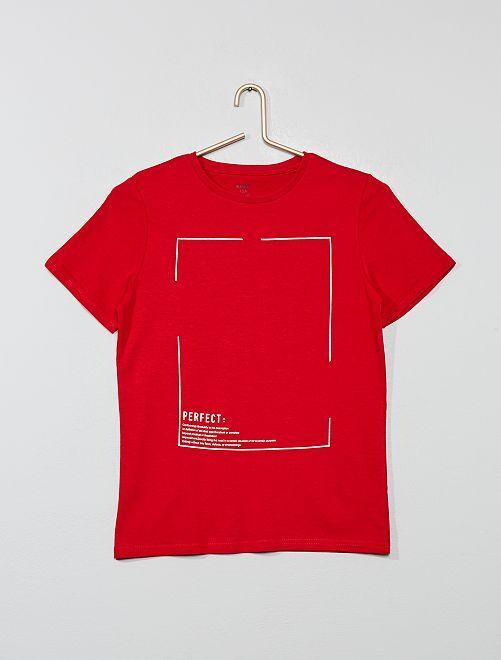 T-shirt à imprimé                                                                                                                 rouge Garçon adolescent