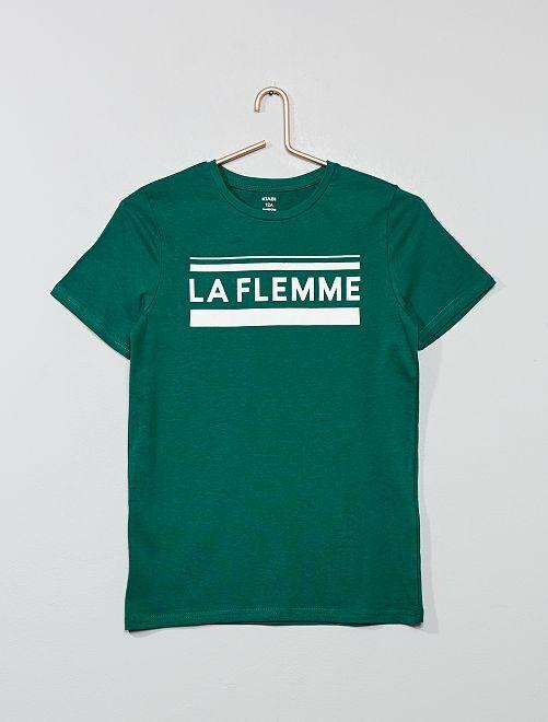 T-shirt à imprimé                                                                                                                 vert Garçon adolescent