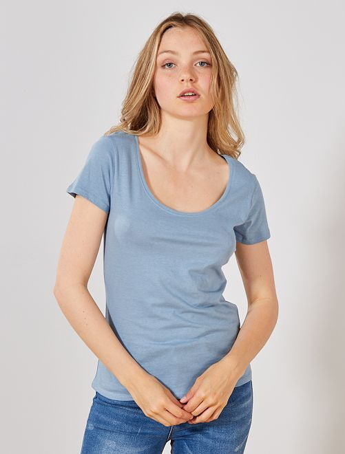 T-shirt à manches courtes                                                                                                                                                                                                                 bleu denim