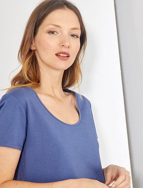 T-shirt à manches courtes                                                                                                                                                                                                                                                                 bleu indigo