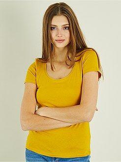 T-shirt, débardeur jaune - T-shirt à manches courtes - Kiabi