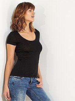 T-shirt, débardeur taille l - T-shirt à manches courtes - Kiabi