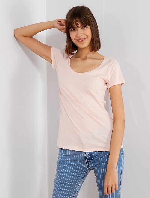 T-shirt à manches courtes                                                                                                                                                                                         rose