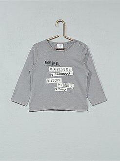 Garçon 0-36 mois - T-shirt à manches longues imprimé - Kiabi