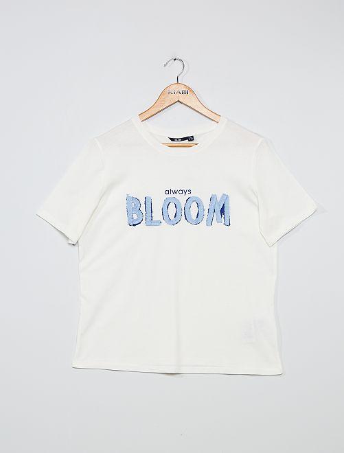 T-shirt à message                                                                 blanc bloom