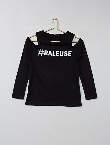 Fille 10-18 ans - T-shirt à message - Kiabi