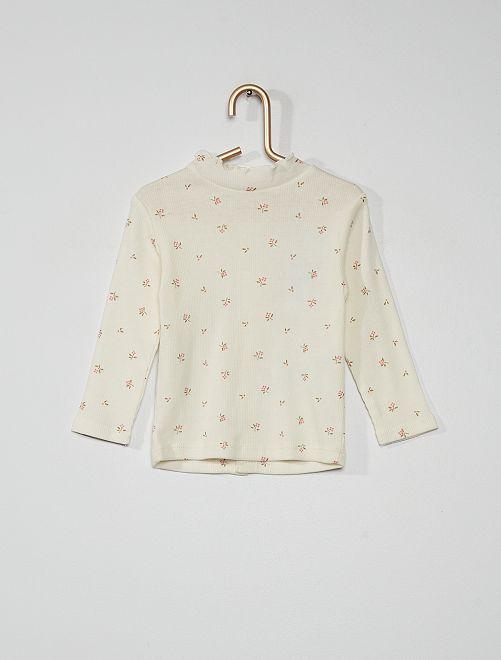 T-shirt à motifs                                                                                         BLANC