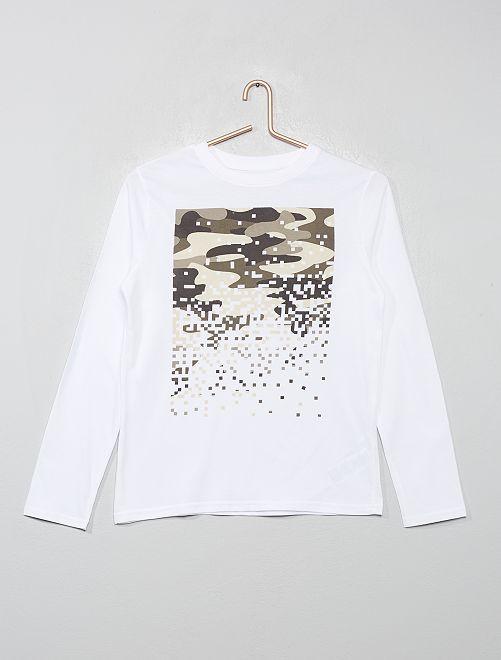 T-shirt à print                                                                                                                 blanc/camouflage