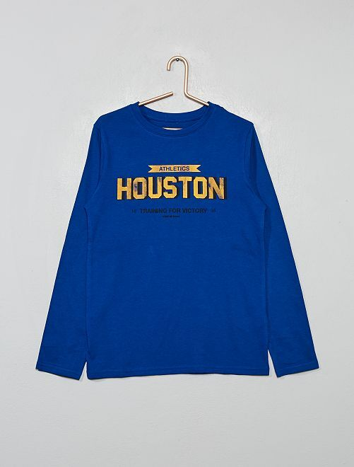 T-shirt à print                                                                                                                                                                             bleu/houston