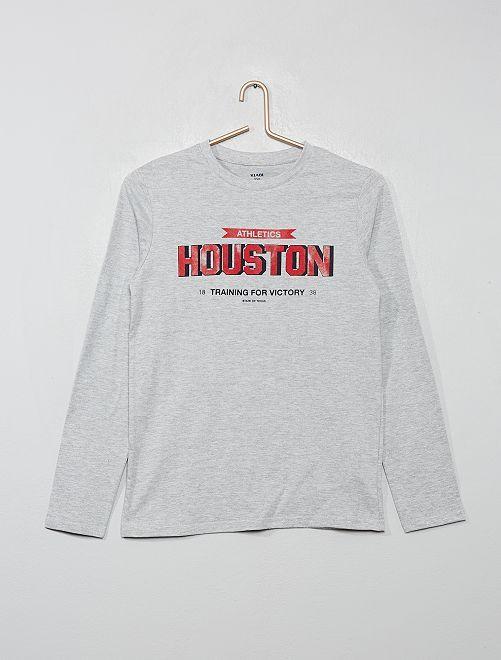 T-shirt à print                                                                                                                                                                             gris/houston