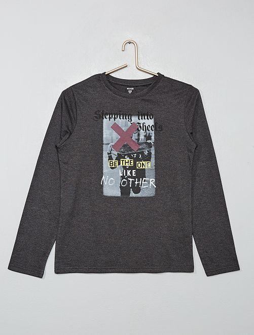T-shirt à print                     gris/skate