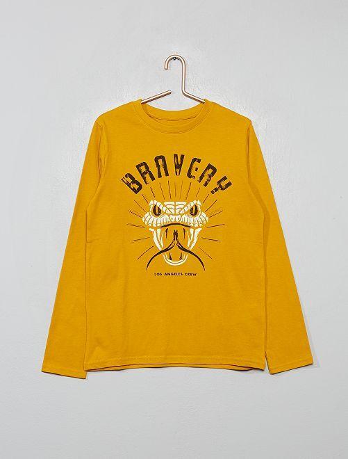 T-shirt à print                                                                                                                                                                             jaune