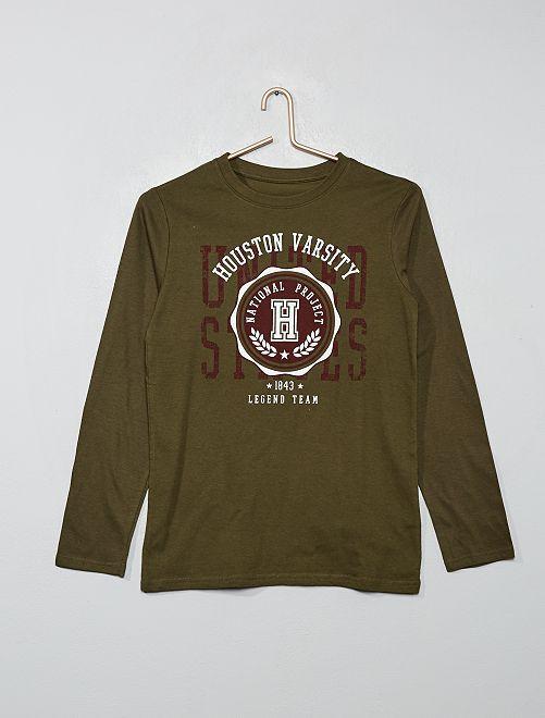 T-shirt à print                                                                                                     vert foncé