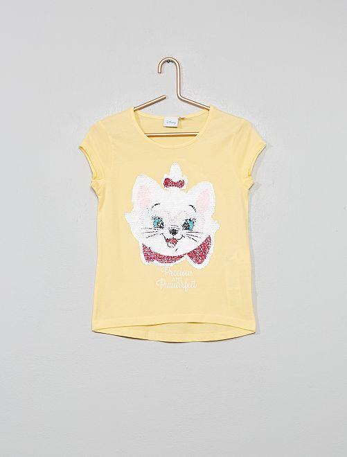 T-shirt à sequins réversibles 'Disney'                                         jaune