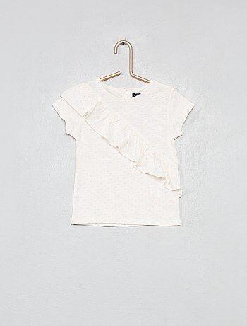 6cbc2aa6397e5 T-shirt à volants imprimé all over - Kiabi